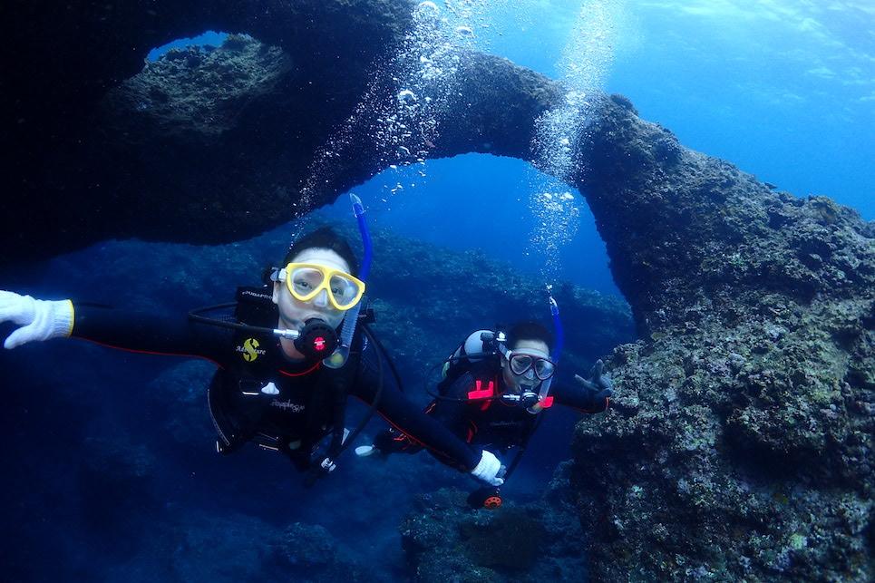 社員旅行体験ダイビング